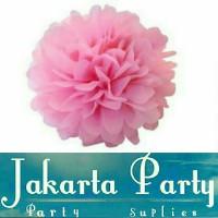 Hiasan Gantung Pink Soft / Pompom Pink Soft Small / Pompom 20 Cm