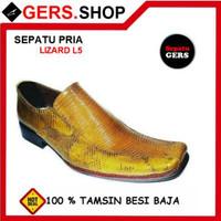 Sepatu Pria Gers Lizard L5 Tan