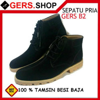 Sepatu Gers B2 Handmade Pria Formal Kantor Kerja Pesta Pantofel Boot