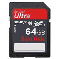 SD CARD SanDisk 64 GB Ultra SDHC Card UHS-I Class 10 (30MB/s) 64GB kam