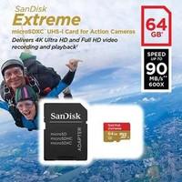 Micro SD SanDisk 64 GB (90mb/s) EXTREME U3 CLASS 10 microSD Card 64GB