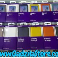 Samsung Flip Wallet Cover Galaxy S6 Edge Original Resmi Case