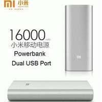 Powerbank Xiaomi 16000 mah Silver Original | PB Xiao Mi 16.000mah Port