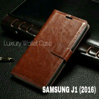 Luxury Wallet Case For Samsung J1 (2016) / Flip Cover Leather Case