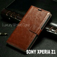Luxury Wallet Case For Sony Xperia Z1 / Flip Cover Leather Case