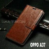 Luxury Wallet Case For Oppo A37 / Flip Cover Leather Case For Oppo A37