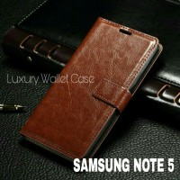 Luxury Wallet Case For Samsung Note 5 / Flip Cover Leather Case