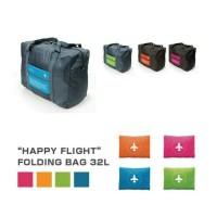 HAPPY FLIGHT FOLDING BAG /FOLDABLE TRAVEL BAGGY /HAND CARRY TAS LIPAT