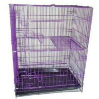 harga Kandang Tingkat Kucing-anjing-kelinci Hp1 P60cm Ungu Tokopedia.com