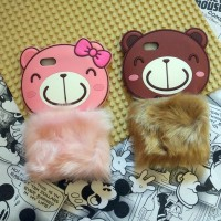 Oppo Neo 7 A33 Silicon 3D Rabbit Fur Bear Flurry Softcase Casing Hp