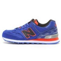 Diskon Sepatu Casual Original New Balance 574 Classic Blue Orange BNIB