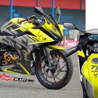 Decal stiker New CBR150R Isle Man TT Yellow