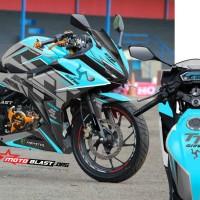 Decal Stiker New CBR150R Isle Man TT blue