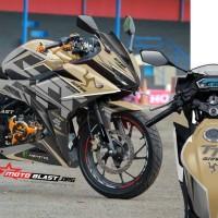 Decal Stiker New CBR150R Isle Man TT Gold