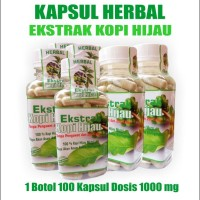 Jual Kopi Hijau Kapsul! Pelangsing Herbal Alami! Green Coffee Slimming Murah
