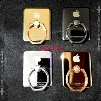 Ring Stand Metal iring besi Logo Apple iPhone Finger Holder Chrome
