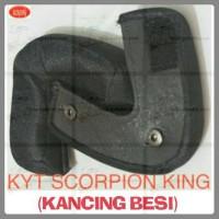 BUSA PIPI, BANTALAN PIPI HELM KYT SCORPION KING (KANCING BESI)