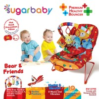 Bouncer Bayi Sugar Baby Premium Healthy Bouncer 3 Recline - Bear & Fri