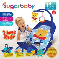 Bouncer Bayi Sugar Baby Infant Seat with Toy Bar - I Love Bear