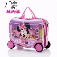 Jual Tas Troli Koper Trunki Fiber Minnie Mouse Murah
