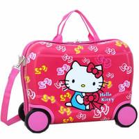 Jual Tas Troli Koper Trunki Fiber Hello Kitty Murah