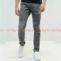 harga Celana Jeans Pria Extreme Ripped Grey Tokopedia.com
