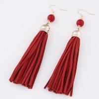 Jual KE41610 Anting Korea Red Beads Red Tassel Murah