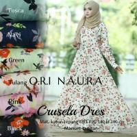 Gamis Crusella Dress Ori Naura Longdress Maxi Katun Jepang