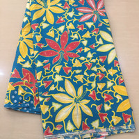 termurah kain batik daun singkong biru