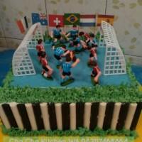 Cake Ultah tema Sepak Bola