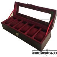 BOX JAM TANGAN ISI 6 | CROCODILE MAROON BOX JAM | TEMPAT JAM TANGAN