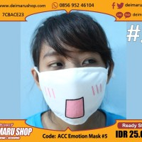 Masker Emoticon Anime Manga Emot Lucu Kawaii - ACC Emotion Mask 1-5