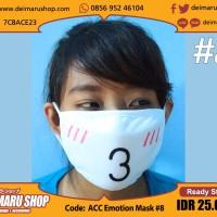 Masker Emoticon Anime Manga Emot Lucu Kawaii - ACC Emotion Mask 6-10
