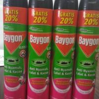 Promo Baygon Insektisida Spray Flower Garden 720ml (600ml + 120ml)
