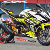 Decal stiker New CBR150R White RC Yellow