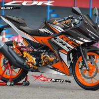 Decal stiker New CBR150R Black RC Orange
