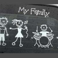 Stiker Mobil Happy Family Karakter Keluarga Sticker keren lucu murah