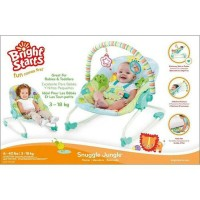 Bright Starts Snuggle Jungle Rocker - INGENUITY - Baby Bouncer 3 in 1