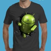 Jual distro kaos grosir pria 3d android,t shirt 3d,tshirt pria 3d android Murah