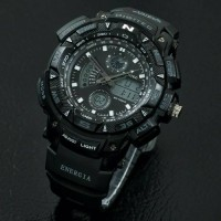 JAM TANGAN DIGITEC ORIGINAL DUAL TIME BLACK