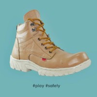 sepatu boot red wing play tan safety