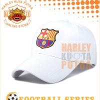 Topi Racing bordir Barca Barcelona Topi Baseball warna Putih