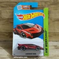 HOT WHEELS LAMBORGHINI VENENO RED HW WORKSHOP 189/250 THRILL RACERS