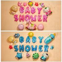 harga Balon Foil Baby Shower (baju Tas Box Popok Dot Susu Party Pesta Bayi Tokopedia.com