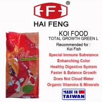 HAI FENG KOI FOOD GROWTH GREEN L 1KG PAKAN KOI MAKANAN IKAN FISH FOOD