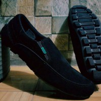 Jual Sepatu Kickers Slip On Slop Suede // Sepatu casual // Sepatu Pantofel Murah
