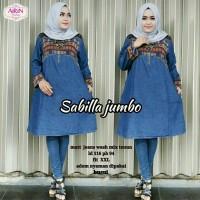 Baju Atasan Wanita Muslim Blouse Sabilla Jumbo Fit to XXL