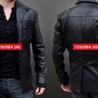 jaket kulit Pria BIG BOS blazer jacket semi sintetis kulit K036