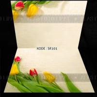Alas Foto Lipat 2 Motif Bunga A3+ SR101 (Background Foto/Photo)46x30cm