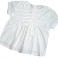 blouse anak dot glitter putih